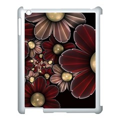 Flower Background Line Apple Ipad 3/4 Case (white) by amphoto