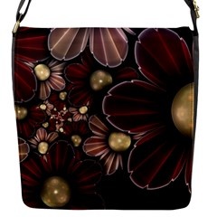 Flower Background Line Flap Messenger Bag (s) by amphoto
