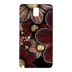 Flower Background Line Samsung Galaxy Note 3 N9005 Hardshell Back Case by amphoto