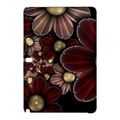 Flower Background Line Samsung Galaxy Tab Pro 12 2 Hardshell Case by amphoto