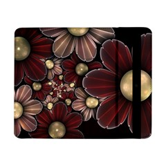 Flower Background Line Samsung Galaxy Tab Pro 8 4  Flip Case by amphoto