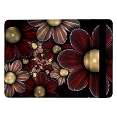 Flower Background Line Samsung Galaxy Tab Pro 12 2  Flip Case by amphoto