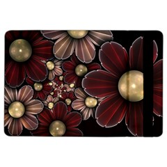 Flower Background Line Ipad Air 2 Flip by amphoto