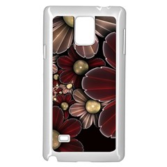 Flower Background Line Samsung Galaxy Note 4 Case (white) by amphoto