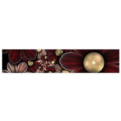 Flower Background Line Flano Scarf (small)  by amphoto