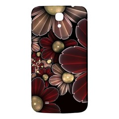 Flower Background Line Samsung Galaxy Mega I9200 Hardshell Back Case by amphoto