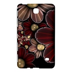Flower Background Line Samsung Galaxy Tab 4 (8 ) Hardshell Case  by amphoto