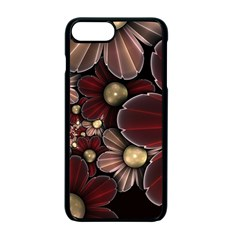 Flower Background Line Apple Iphone 7 Plus Seamless Case (black) by amphoto