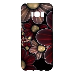 Flower Background Line Samsung Galaxy S8 Plus Hardshell Case  by amphoto