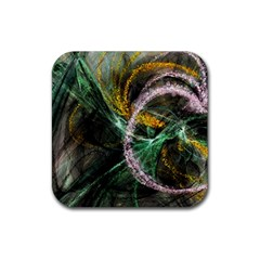 Connection Background Line Rubber Square Coaster (4 Pack)  by amphoto
