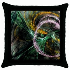 Connection Background Line Throw Pillow Case (black) by amphoto