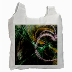Connection Background Line Recycle Bag (two Side)  by amphoto