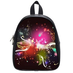 Plant Patterns Colorful  School Bag (small) by amphoto