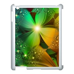 Flowers Petals Colorful  Apple Ipad 3/4 Case (white) by amphoto