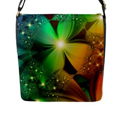Flowers Petals Colorful  Flap Messenger Bag (l)  by amphoto