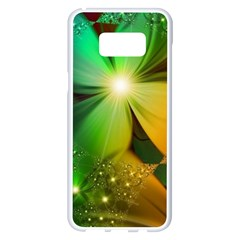 Flowers Petals Colorful  Samsung Galaxy S8 Plus White Seamless Case by amphoto
