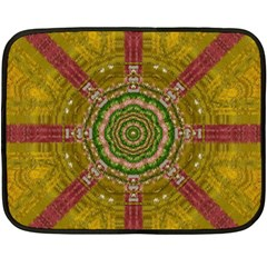 Mandala In Metal And Pearls Double Sided Fleece Blanket (mini)  by pepitasart