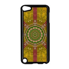Mandala In Metal And Pearls Apple Ipod Touch 5 Case (black) by pepitasart