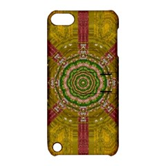 Mandala In Metal And Pearls Apple Ipod Touch 5 Hardshell Case With Stand by pepitasart