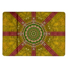 Mandala In Metal And Pearls Samsung Galaxy Tab 10 1  P7500 Flip Case by pepitasart