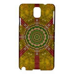 Mandala In Metal And Pearls Samsung Galaxy Note 3 N9005 Hardshell Case by pepitasart