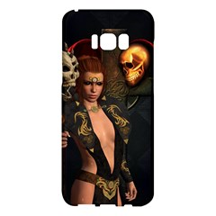 The Dark Side, Women With Skulls In The Night Samsung Galaxy S8 Plus Hardshell Case  by FantasyWorld7