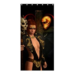 The Dark Side, Women With Skulls In The Night Shower Curtain 36  X 72  (stall)  by FantasyWorld7