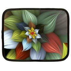 Flower Background Colorful Netbook Case (large) by amphoto