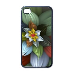Flower Background Colorful Apple Iphone 4 Case (black) by amphoto