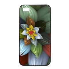 Flower Background Colorful Apple Iphone 4/4s Seamless Case (black) by amphoto