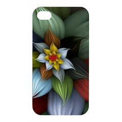 Flower Background Colorful Apple Iphone 4/4s Premium Hardshell Case by amphoto