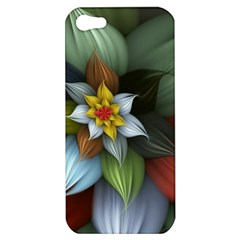 Flower Background Colorful Apple Iphone 5 Hardshell Case by amphoto