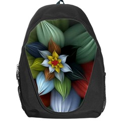 Flower Background Colorful Backpack Bag by amphoto