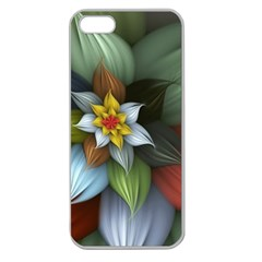 Flower Background Colorful Apple Seamless Iphone 5 Case (clear) by amphoto