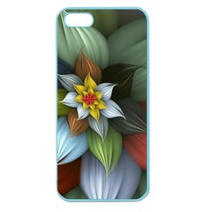 Flower Background Colorful Apple Seamless Iphone 5 Case (color) by amphoto