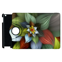 Flower Background Colorful Apple Ipad 3/4 Flip 360 Case by amphoto