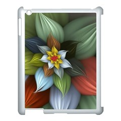 Flower Background Colorful Apple Ipad 3/4 Case (white) by amphoto