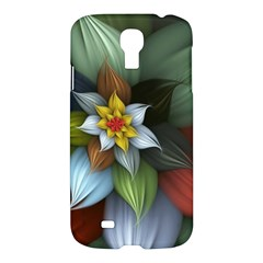 Flower Background Colorful Samsung Galaxy S4 I9500/i9505 Hardshell Case by amphoto