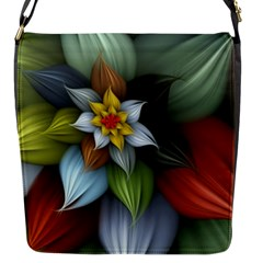 Flower Background Colorful Flap Messenger Bag (s) by amphoto