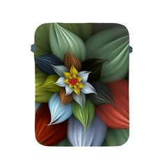 Flower Background Colorful Apple Ipad 2/3/4 Protective Soft Cases by amphoto