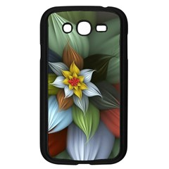 Flower Background Colorful Samsung Galaxy Grand Duos I9082 Case (black) by amphoto