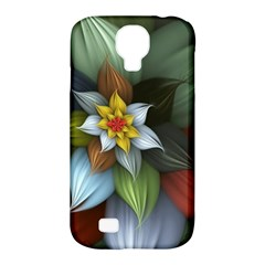 Flower Background Colorful Samsung Galaxy S4 Classic Hardshell Case (pc+silicone) by amphoto