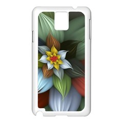 Flower Background Colorful Samsung Galaxy Note 3 N9005 Case (white) by amphoto