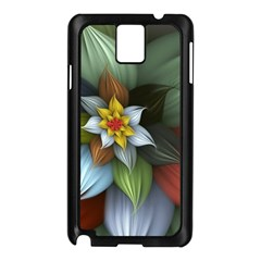 Flower Background Colorful Samsung Galaxy Note 3 N9005 Case (black) by amphoto