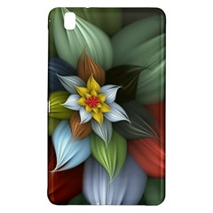 Flower Background Colorful Samsung Galaxy Tab Pro 8 4 Hardshell Case by amphoto