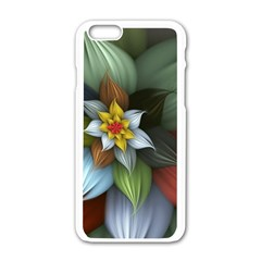 Flower Background Colorful Apple Iphone 6/6s White Enamel Case by amphoto