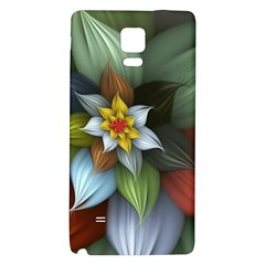 Flower Background Colorful Galaxy Note 4 Back Case by amphoto