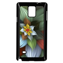 Flower Background Colorful Samsung Galaxy Note 4 Case (black) by amphoto
