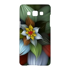 Flower Background Colorful Samsung Galaxy A5 Hardshell Case  by amphoto
