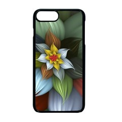 Flower Background Colorful Apple Iphone 7 Plus Seamless Case (black) by amphoto